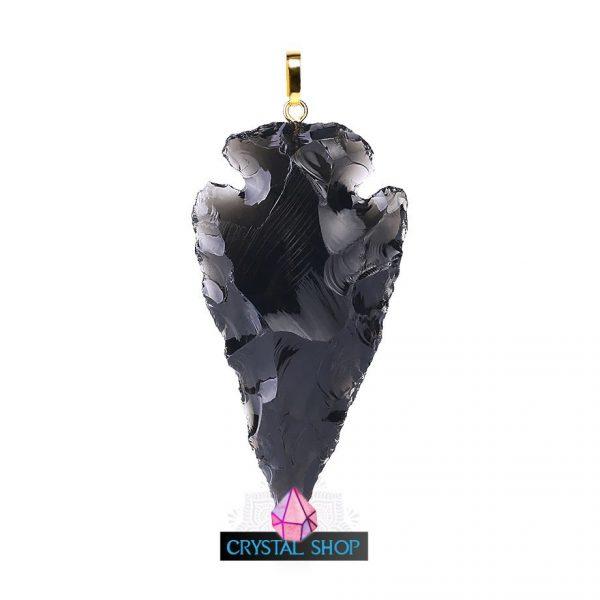 black obsidian pendant