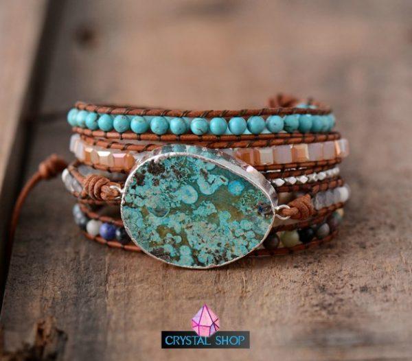 Ocean Jasper Multi Layered Bracelet